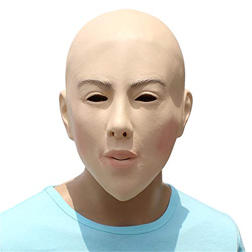 Realistic Female Mask for Halloween Human Female Masquerade Latex Party Mask Sexy Girl Crossdress Costume Cosplay Mask -