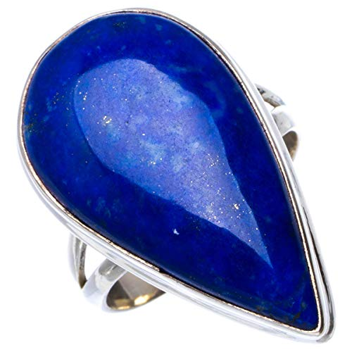 Natural Lapis Lazuli Handmade Unique 925 Sterling Silver Ring 8.25 B1352
