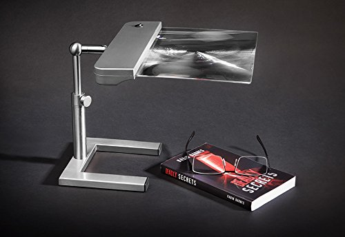 Full-Page Cordless Desk Magnifier (Silver Finish)