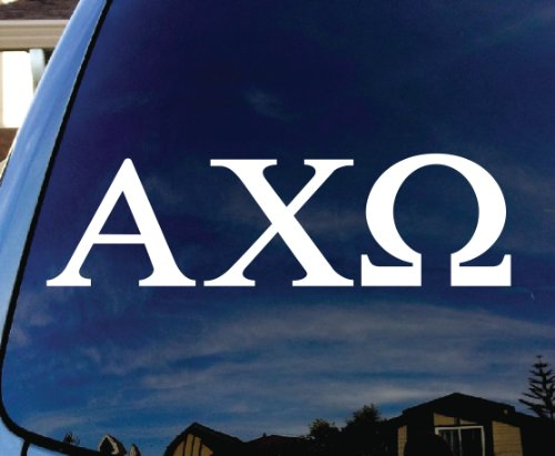 Sorority Car - Alpha Chi Omega Sorority Car Window Vinyl Decal Sticker 5