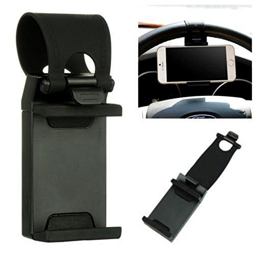 Sofia Pedestal (Sophia Home Essentials Universal Car Mount Steering Weel Stand For Phone/GPS Rubber Band Socket Phone Holder - Pack of 2)