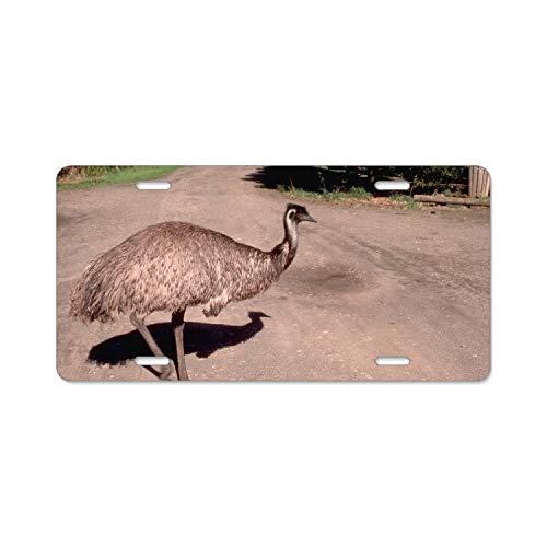 Khope Animal Emu Birds Australian Personalized Metal License Plate Frame 6 × 12