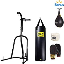 Everlast Dual Station Heavy Bag Stand, 100-lb, Speedbag, Value Bundle by Everlast