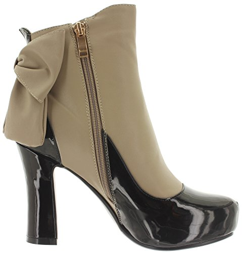 ... Banned Ankle Boots Sadie BND085 Black-Taupe