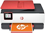 HP OfficeJet Pro 8035e Wireless Color All-in-One Printer (Coral) with up to 12 months Instant Ink with HP+ (1L