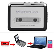 InnoLife USB Handy Portable Cassette to MP3 Digital Converter Tape-to-MP3 format for ipod ipad Smartphone Tablet PC Mp3 Player Mac Windows with Headphones