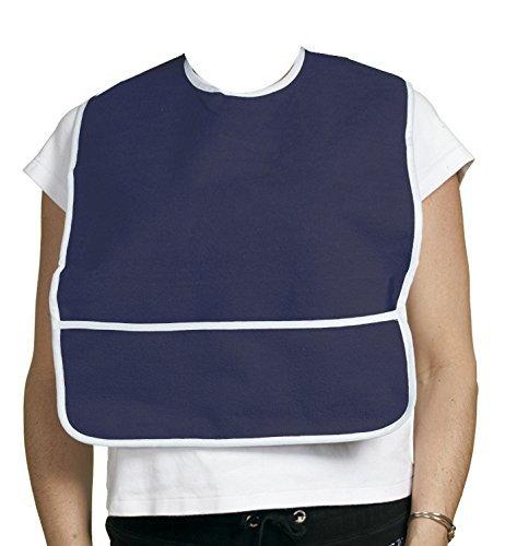 Crumb Catcher Terry Cloth Bib (S, Blue)