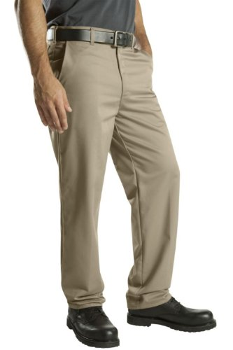 Dickies Occupational Workwear WP314KH 46x32 Cotton Relaxed Fit Men's Flat Front Casual Pant with Straight Leg, 46