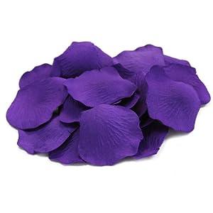 Koyal Wholesale 200-Pack Silk Rose Petals, Purple 87