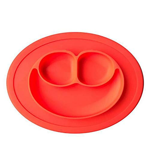 - Adoeve One-Piece Silicone Placemat Baby Smile Face Plate and Placemat Place Mats