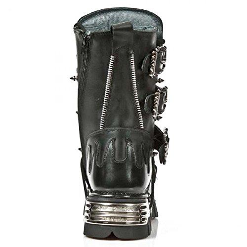 De Nouvelles Bottes De Rock M.1007-c1 Gothique Hardrock Punk, Unisexe Stiefel Schwarz