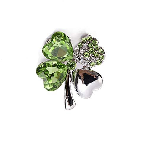 BinaryABC St.Patrick's Day Shamrock Brooch Pins,St.Patrick's Day Costume Accessory Decorations