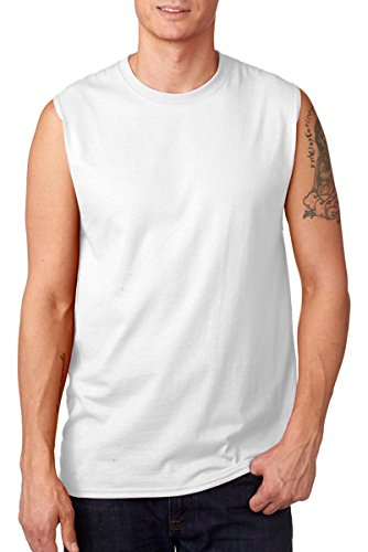 Jerzees Adult Sleeveless T-shirt (Jerzees 29SR Adult Sleeveless Shooter T-Shirt - White - 3XL)