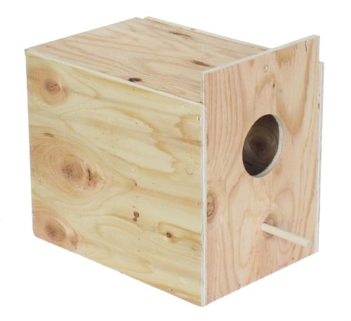 YML Assembled Wooden Nest Box for Outside Mount with Dowel, Large
