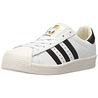 adidas Originals mens Super Star Sneaker, White/Core Black/Gold Metallic, 5 US
