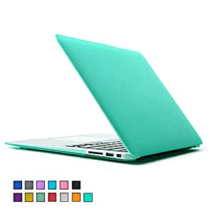 """For MacBook Air 13 Inch Case,2win2buy AIR 13-inch Rubberized See Through Hard Shell Snap On Case Cover For Apple MacBook Air 13.3"""" (Models: A1369 and A1466),Green"""