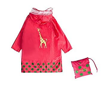 GIM Chubasquero infantil resistente al agua lluvia poncho chubasquero impermeable protección contra la intemperie para niñas y niños unisex 3-12 años ...