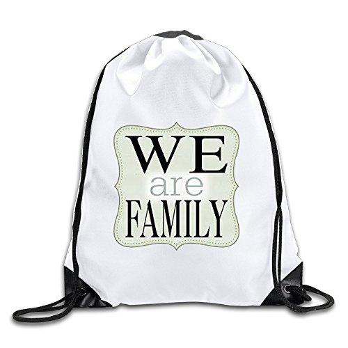 Hunson - Special We Are Family Sport Bag Drawstring Sling Backpack For Men & Women Sackpack