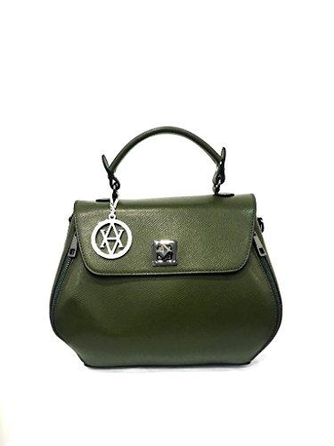 AwAy Borsa in Pelle Made in Italy handbag genuine leather