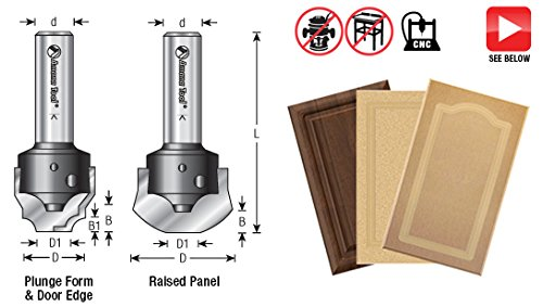 Amana Tool RC-2485 CNC Insert Nova System Cove Raised Panel for MDF and Wood Cabinet Doors 1-11/32 D x 17/64 CH x 1/2 Inch SHK Router Bit