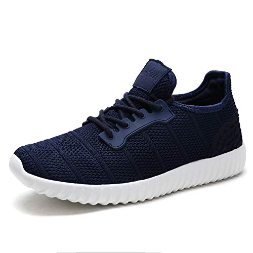 UNMK FUN Women's Fashion Sneakers Running Shoes 9518W02 Walking Shoes (7, Navy)