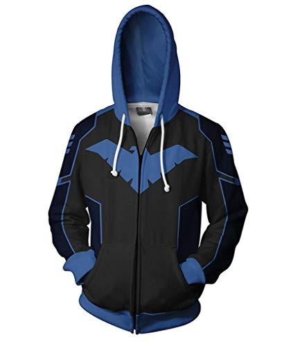 Jonikow Cosplay Comics 3D Printed Hoodie Costume Mens Pullover Sweatshirt Jacket (S, 1) -