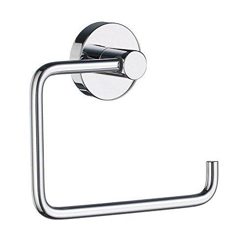 Smedbo SME_HK341 Toilet Roll Euro Holder Without Lid, Polished Chrome