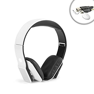 GOgroove Bluetooth Gaming Headphones Wireless Connection System for HD Gaming Speakers Genius , GOgroove SonaVERSE O2i , Logitech Z506 / Z313 /Z323 , Corsair , Arion Legacy with Premium Bluetooth Headphones and Bluetooth Transmitter