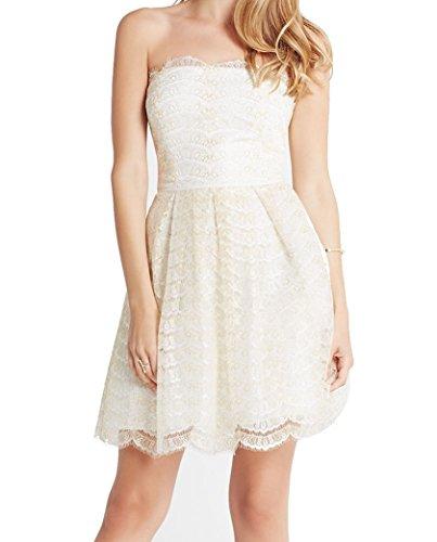 bcbg dress white strapless - 1
