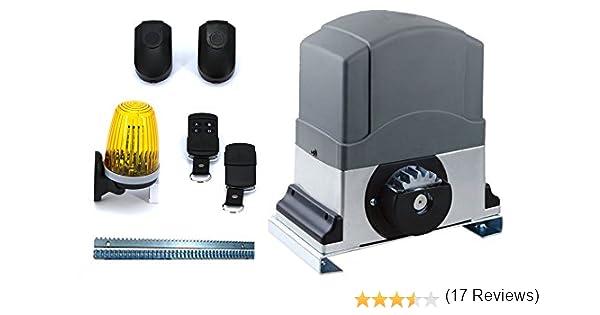 Motor puerta deslizante Kit AUTOMAZIONE Centralina apricancello con LED parpadeante y fotocélulas: Amazon.es: Bricolaje y herramientas