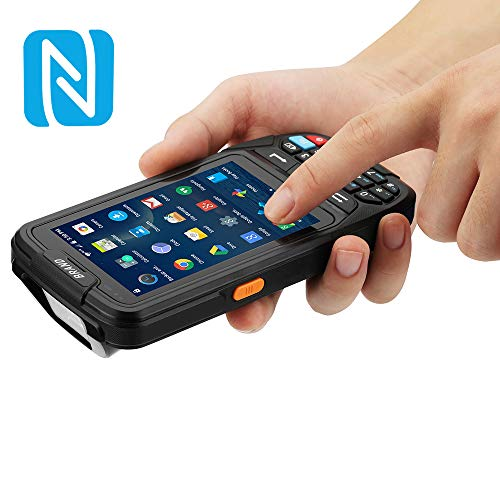 Industrial Rugged Inventory Android Scanner MUNBYN Data Terminal with 2D Scanner, NFC Reader 13.56MHz, Camera, Touch Screen, Numeric Keypad Support 4G WiFi BT GPS for Shipping, Warehouse Management ()