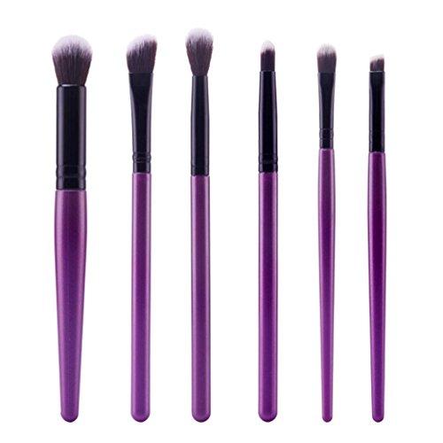 6pcs Makeup Brushes Powder Foundation Eyeshadow Eyeliner Brush (Black+ Red) - 7