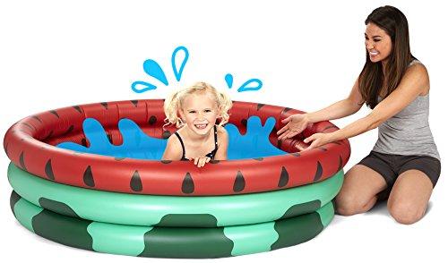 BigMouth Inc Inflatable Watermelon Kiddie Pool, Durable Plastic Baby Pool, Summer Fun Swim Pool for Kids