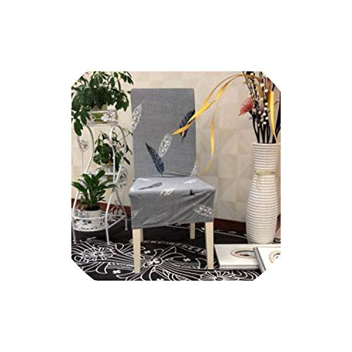 pleasantlyday Stretch Dining Chair Cover Restaurant Banquet Folding Chair Covering,9,Back Height 45 to 60
