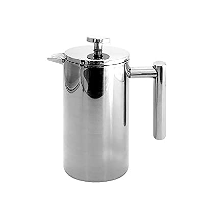 French Presse Coffee Maker, Stainless Steel Coffee & Tea Maker, Double Insulated Coffee Pot with filter, Coffee Tea Kettle, for coffee lovers