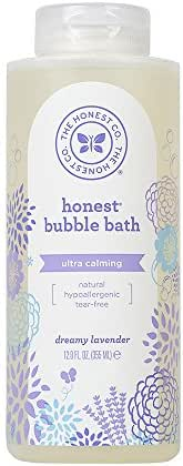 The Honest Company Truly Calming Lavender Bubble Bath | Tear Free Kids Bubble Bath | Naturally Derived Ingredients & Essential Oils | Sulfate & Paraben Free Baby Bath | 12 fl. oz.