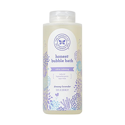 The Honest Company Calming Lavender Bubble Bath - Tear-Free Kids Bubble Bath with Naturally Derived Ingredients and Essential Oils - Sulfate- and Paraben-Free Baby Wash - 12 Fl. Ounces - Luxurious Clean Natural