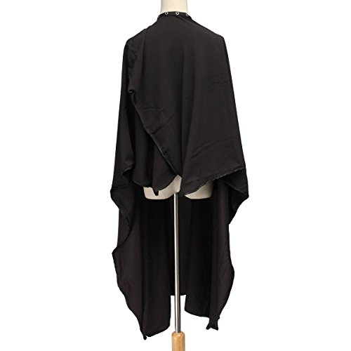 Salon Hair Cutting Cape LuckyFine Hairdressing Cutting Cape Silk Crepe Professional Salon Cape/Barber Cape/Water Resistant Black