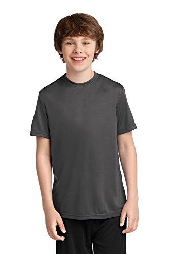 (Port & Company Boys' Essential Performance Tee XL Charcoal)