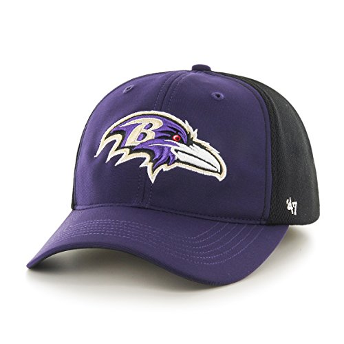 Baltimore Ravens Draft - NFL Baltimore Ravens '47 Draft Day Closer Stretch Fit Hat, One Size, Purple
