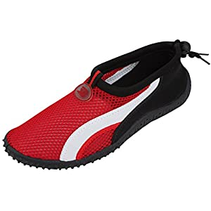 Womens Water Shoes Aqua Socks Pool Beach ,Yoga,Dance and Exercise (8, Red 2906)