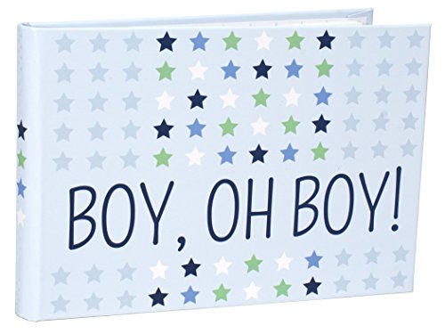 Malden International Designs Boy Oh Boy Baby Brag Book, 1-Up, 40-4x6, Blue -