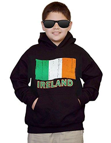 Ireland Flag Sweatshirt (Youth Ireland Flag Black kids Sweatshirt Hoodie Medium)