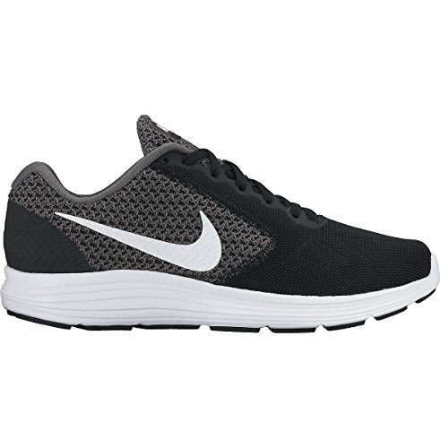 NikeWMNS NIKE REVOLUTION 3 - Zapatillas de Running Mujer DARK GREY/WHITE-BLACK