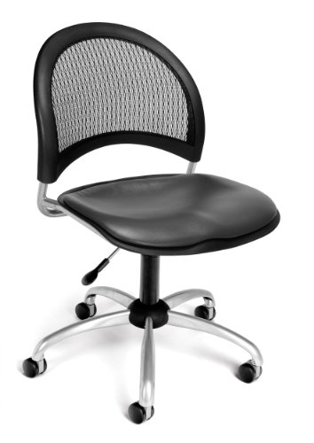 OFM 336-VAM-604 Moon Swivel Chair with Vinyl Seat, Charcoal (Vinyl Charcoal Vam 604)