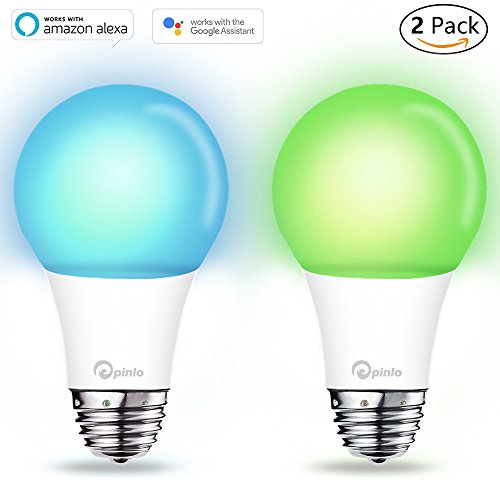 Smart Bulb,Wi-Fi Smart Led Light Bulb (100W Equivalent) Compatible with Amazon Alexa Google Home,App&Voice Controlled Party Bulbs Color Changing Dimmable Night Light Wake up Lights(e26/e27) - 2 Pack (100w Blue Daylight Bulb)