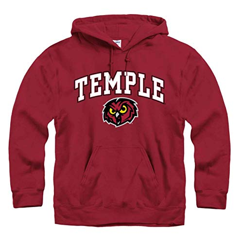 Temple Owls Arch & Logo Gameday Hooded Sweatshirt - Maroon