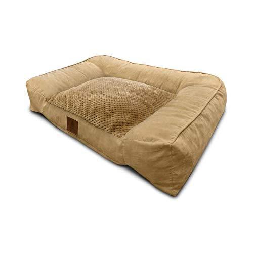 (American Kennel Club Tan Memory Foam Extra Large Sofa Dog Pet Bed )