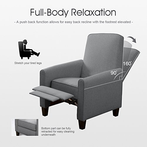 LANGRIA Contemporary Recliner Living Padded Sofa Chair for Home or Office Ergonomic Armrests/Footrests with Premium New Foam and Fabric Upholstery ... & Fabric Recliner Chairs: Amazon.com islam-shia.org