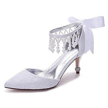 El mejor regalo para mujer y madre Mujer Zapatos Encaje Satén Primavera  Verano Confort Zapatos de f4804763b0f